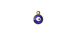 Cobalt Evil Eye Brass Charm 7x9mm