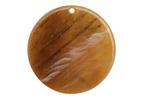 Zola Elements Caramel Bullhorn Acetate Coin Focal 30mm