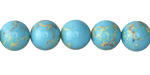 Blue Turquoise Impression Jasper Round 10mm