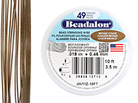 "Beadalon Bronze .018"" 49 Strand Wire 10ft."