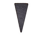 Lillypilly Black Leather Triangle Tag 17x36mm