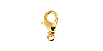 Gold (plated) Swivel Lobster Clasp 9x17mm