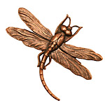 Stampt Antique Copper (plated) Soaring Dragonfly 46x35mm