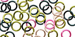 Rose Garden Mix Enameled Copper Round Jump Ring 7mm, 18 gauge