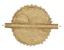 African Brass Large Flat Sun Coin 50-62x40-50mm