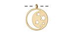 Zola Elements Matte Gold (plated) Starry Night Charm 15x18mm