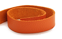"TierraCast Orange Leather Strap 10"" x 1/2"""