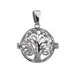 Silver Finish Tree of Life Diffuser Locket 25x32mm