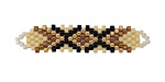 Zola Elements Macadamia Hand Woven Elongated Focal 42x14mm