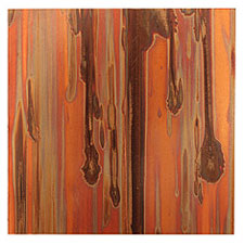 "Lillypilly Enchantment Patina Copper Sheet 3""x3"", 24 gauge"