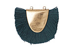 Zola Elements Matte Gold (plated) Teal Fringed Focal Link 31x25-29mm
