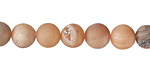 Peach Metallic Luster (matte) Druzy Round 8mm