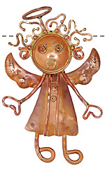 Patricia Healey Copper Singing Angel Pendant 48x74mm