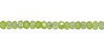 Celadon Green Agate Faceted Rondelle 2x4mm