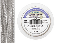 Twisted Artistic Wire Non-Tarnish Silver 20 gauge, 4 yards