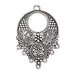 Zola Elements Antique Silver (plated) Cascading Floral Chandelier 30x44mm