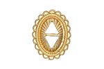 Zola Elements Matte Gold (plated) Southwest Concho 19x25mm