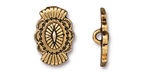 TierraCast Antique Gold (plated) Western Button 14x20mm