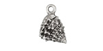 Greek Pewter Textured Conch Shell Charm 12x17mm