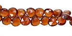 Hessonite Faceted Flat Teardrop 5-7mm