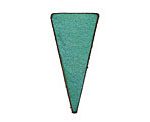 Lillypilly Sea Green Leather Triangle Tag 17x36mm