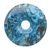 Larimar Blue Crazy Lace Agate Donut 50mm