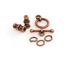 TierraCast Antique Copper (plated) Pagoda 2mm Cord End Set