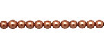 Copper Shell Pearl Round 4mm