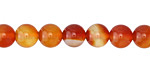 Carnelian (natural-orange) Round 8mm