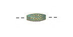 Zola Elements Patina Green Brass (plated) Floral 4-Sided Rice 12x4mm