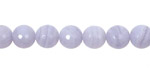 Blue Lace Agate Faceted Round 8mm