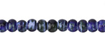Night Sky Porcelain Tumbled Rondelle 5x7mm