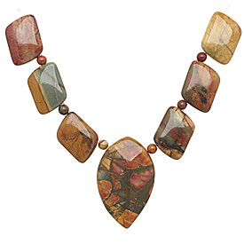 Red Creek Jasper Mixed Pendant Set 13-35mm