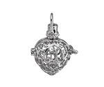 Silver Finish Filigree Heart Diffuser Locket 24x35mm
