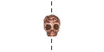 TierraCast Antique Copper (plated) Rose Skull Bead 10x7mm
