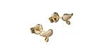 Amoracast Amoracast 14kt Gold (plated) Sterling Silver Wing w/ Loops Post Earring w/ Back 6x8mm