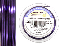 Artistic Wire Silver Plated Orchid 22 gauge, 10 yards
