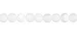 White Fire Agate (matte) Round 5.5-6mm