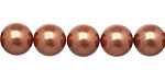 Copper Shell Pearl Round 10mm