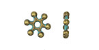 Zola Elements Patina Green Brass Spoke Spacer 3x12mm