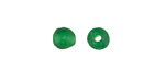 African Recycled Glass Emerald Green Tumbled Round 6-7mm