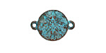 Greek Copper (plated) Patina Compass Link 21x15mm