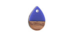 Wood & Indigo Resin Teardrop Focal 11x17mm
