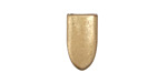 Zola Elements Matte Gold (plated) Smooth Pointed End 7mm Flat Cord Tip 10x17mm