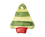 Jangles Ceramic Lime w/ Green Stripe Tree Pendant 28x35mm