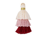 Raspberries & Cream Mix Small 3-Tiered Tassel 35mm