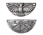 Green Girl Pewter Magic Bird Link 36x17mm
