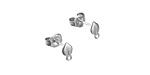 Amoracast Sterling Silver Aspen Leaf w/ Loops Post Earring w/ Back 4x7mm