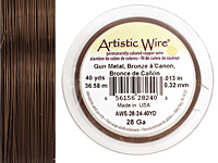 Artistic Wire Antique Brass 28 gauge, 40 yards