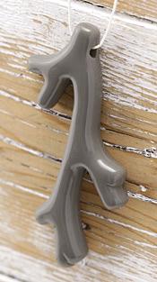 Concrete Acrylic Coral Branch Pendant 41x70mm